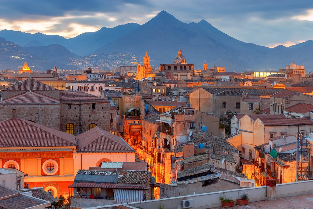 Sunset over Palermo, Sicily