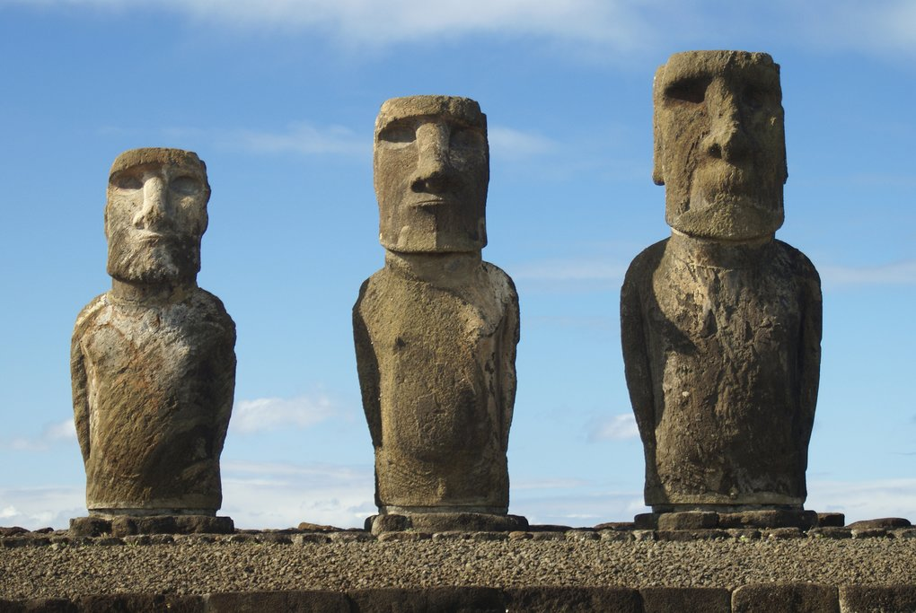 The moai, Easter Island's literal figureheads