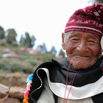Local man in traditional Taquile dress