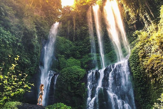 The breathtaking view of Sekumpul Waterfall