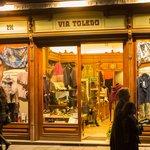 Clothing shop on historic Via Toledo