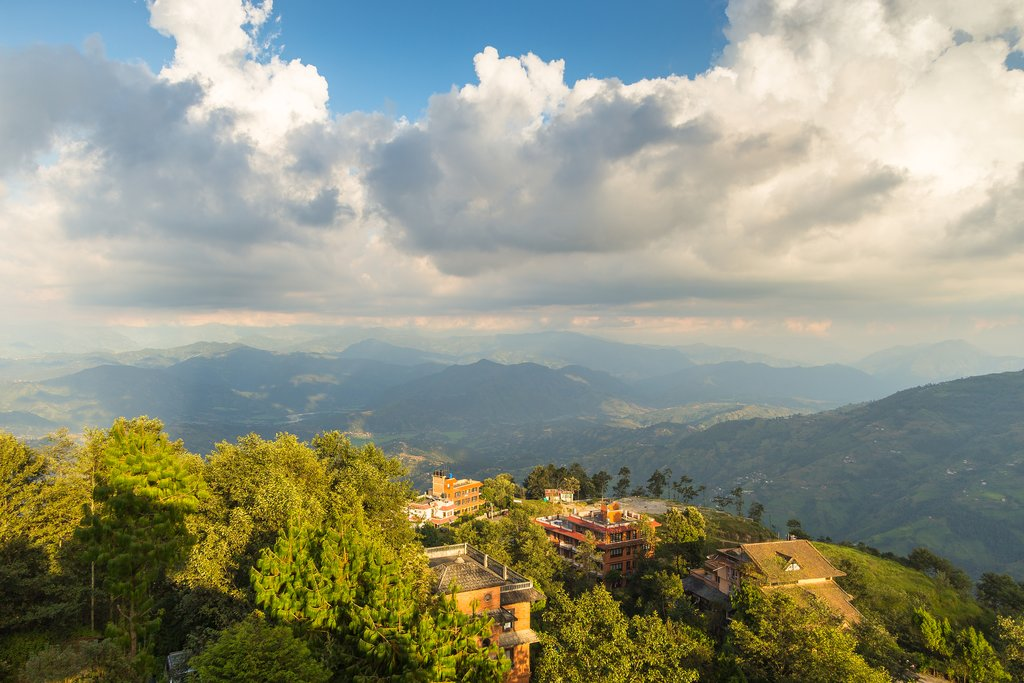 The view from Nagarkot, a popular village on the outskirts of the Kathmandu Valley