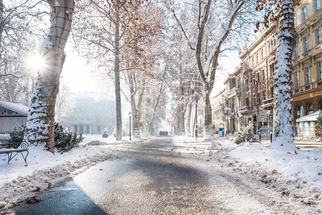 Zagreb's Zrinjevac Park lights up in winter