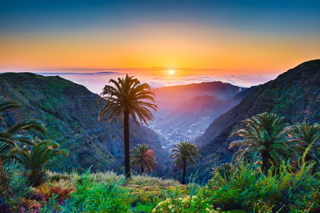 La Gomera's lush, mountainous coast.