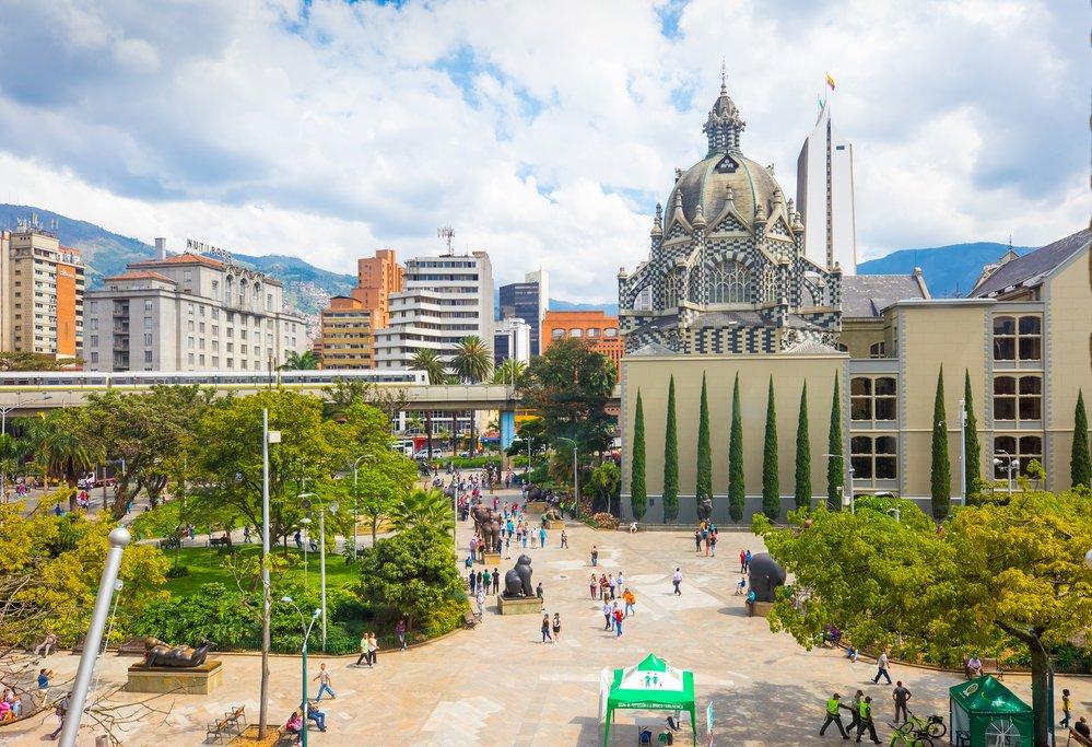 Plaza Botero in downtown Medellín