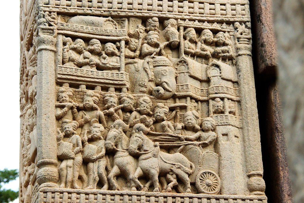 Carving at Sanchi Stupa
