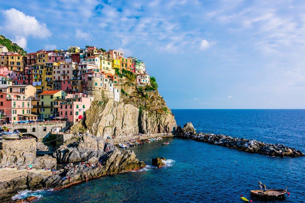 View of Manarola in Italy's Cinque Terre