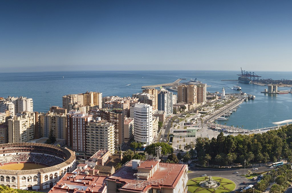 Panoramic view of Málaga