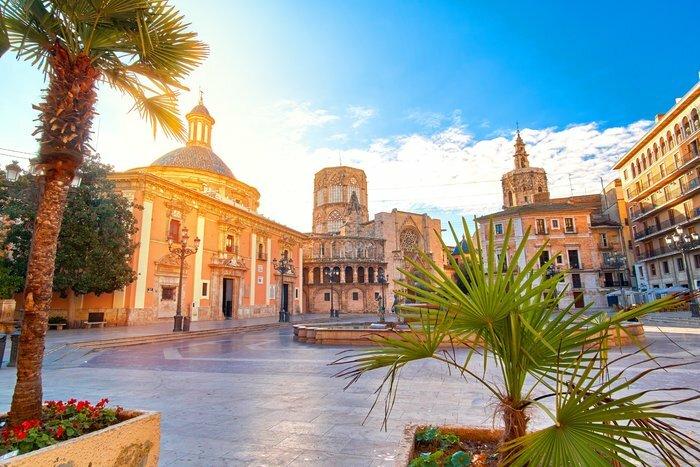 Valencia's historic Plaza de la Virgen