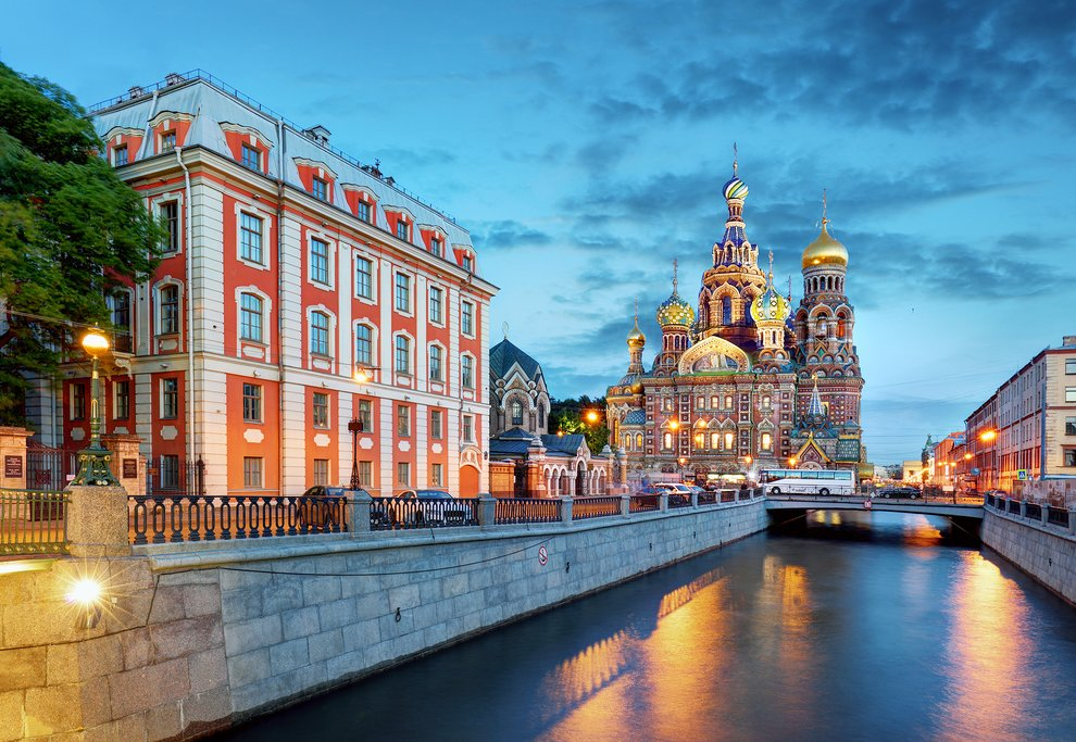 Neva River and The Church of the Savior on Spilled Blood