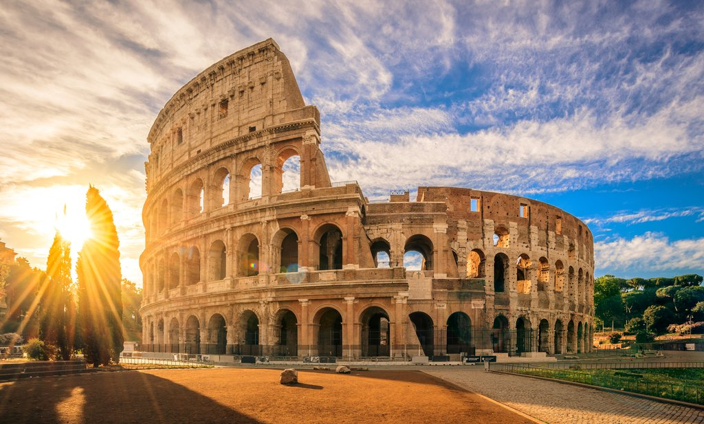 The ancient Roman Colosseum