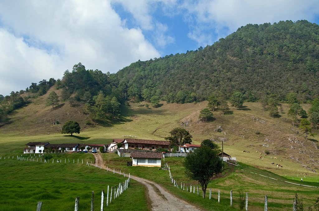 Approaching the traditional cheese farms of Acul.
