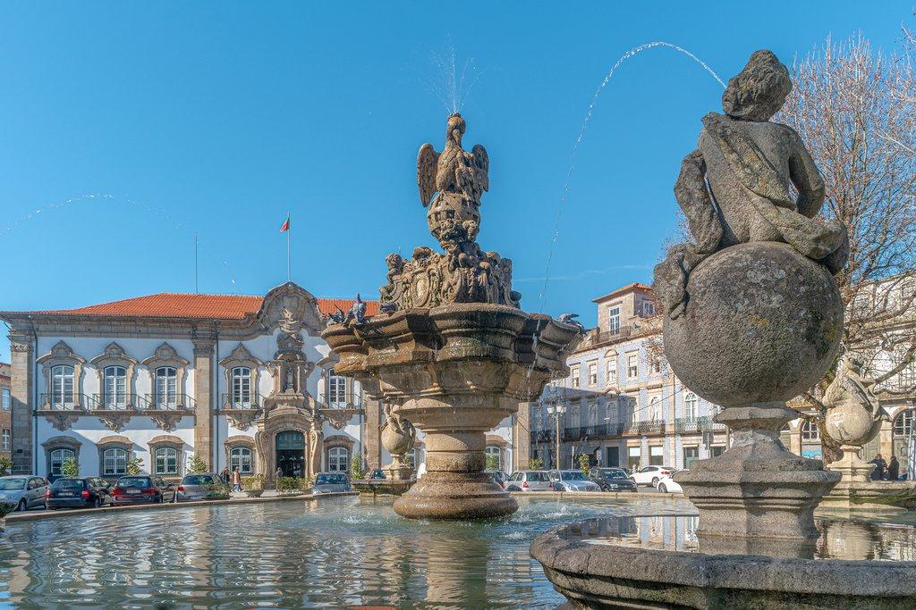 A charming fountain in Braga