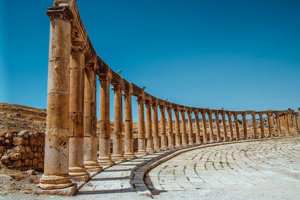 The Roman ruins in Jerash