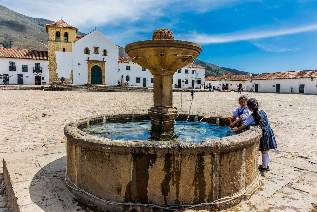 The expansive central plaza of Villa de Leyva