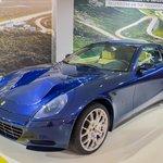 Ferrari on display at the museum