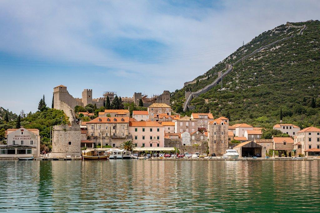 Walls and Harbor of Ston, Croatia