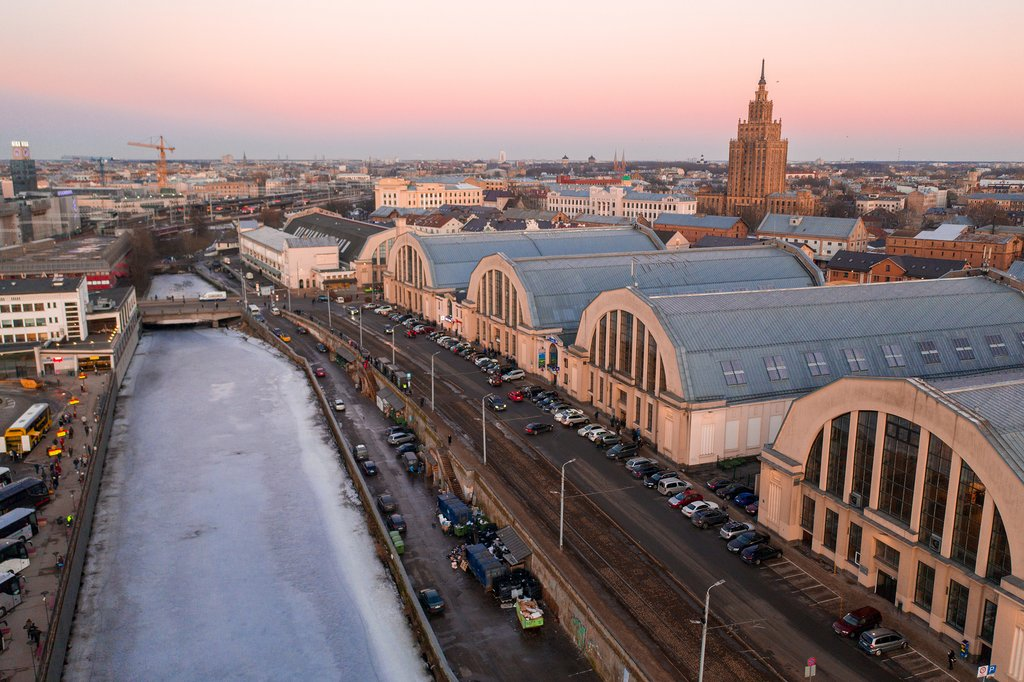 View of the Riga Central Market