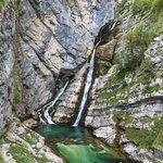 Savica waterfall near Lake Bohinj in Triglav National Park