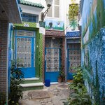 A pretty blue alleyway of Tangier