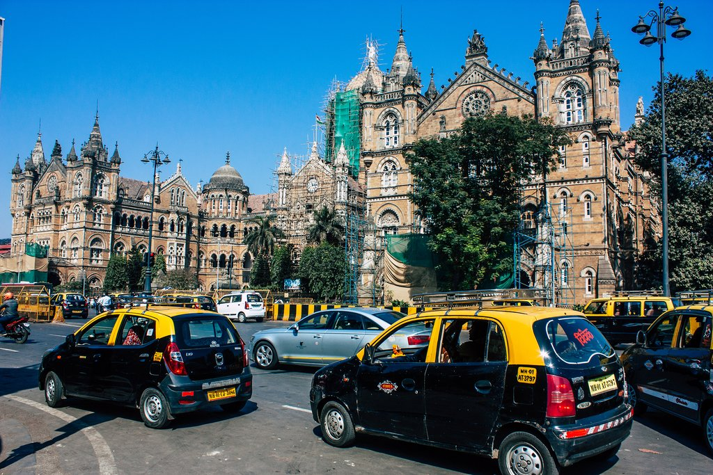 Victoria railway station located in the heart of Mumbai