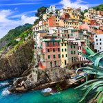 Riomaggiore clings to the cliffsides along the coast.