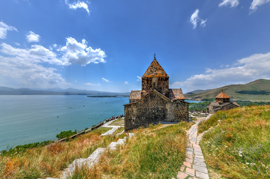 Sevanavank on Lake Sevan, Armenia
