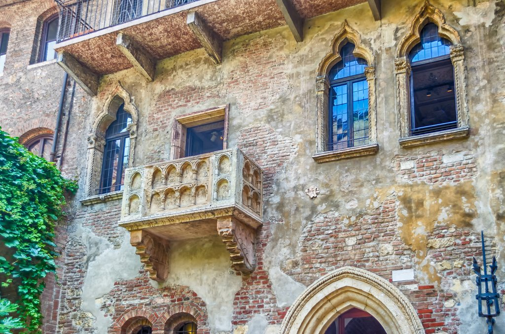 The famous Juliet balcony