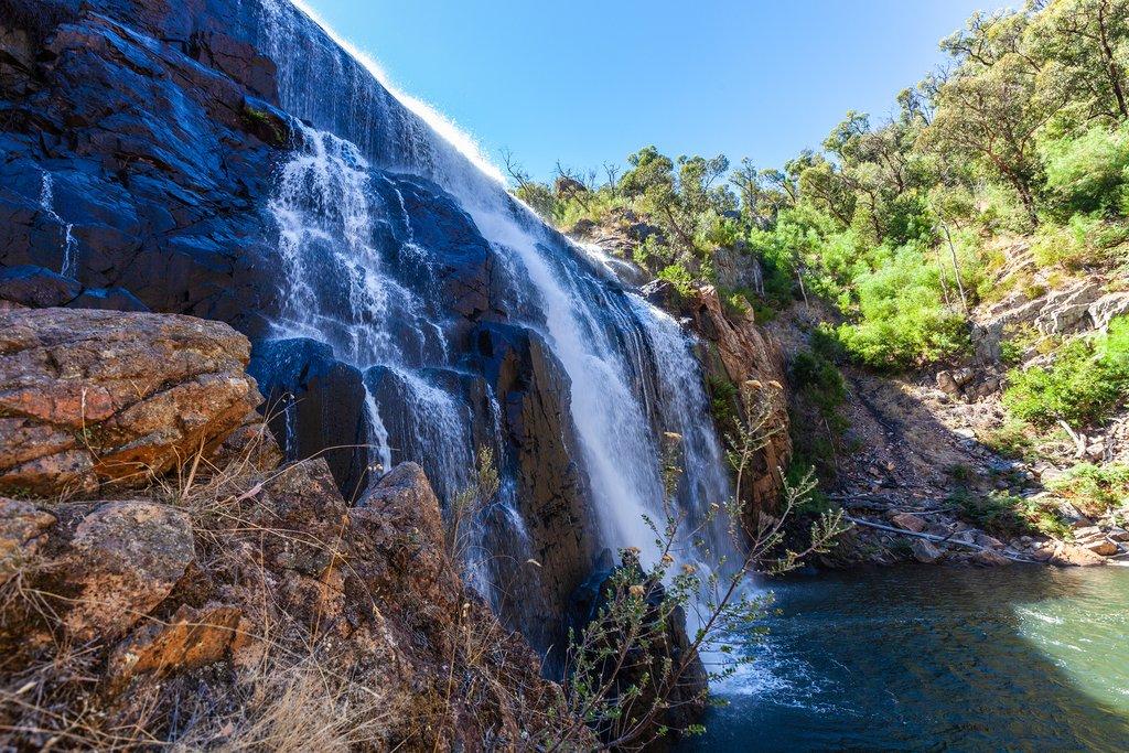 Famous Mackenzie falls near Halls Gap in Grampians National Park, Australia