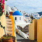 Explore the streets of Oia