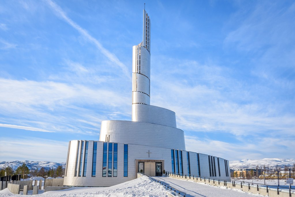 Make sure to visit the Northern Lights Cathedral in Alta before departing