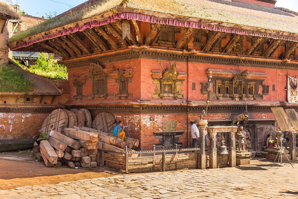 The old city of Bhaktapur