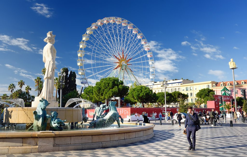 Stroll through Nice's famous plazas on a foodie tour