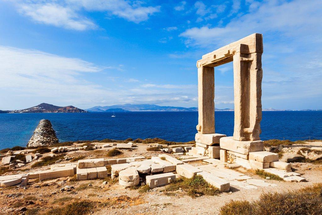 The ancient Portara of Naxos
