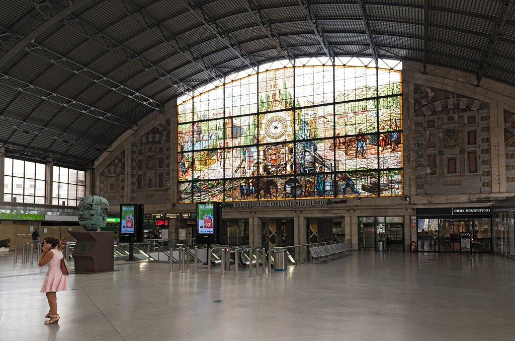 Abando Indalecio Prieto train station in Bilbao