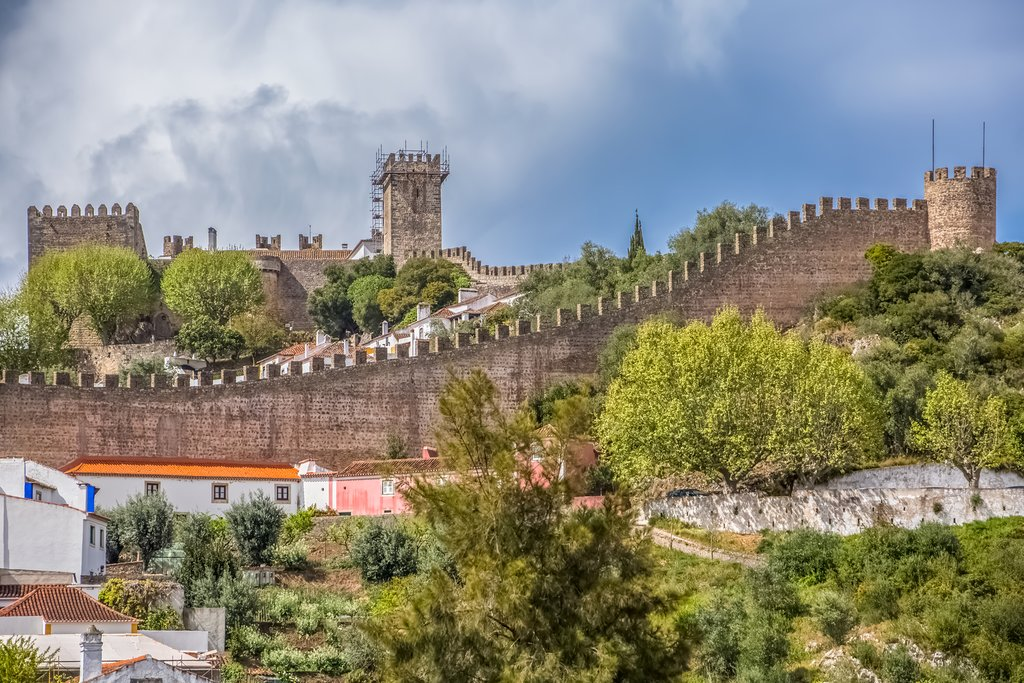 View of the fortress in Óbidos