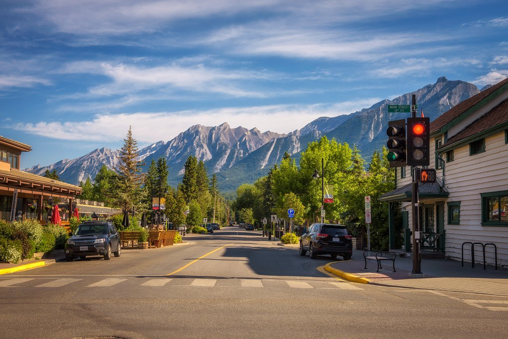 The town of Canmore near Banff National Park
