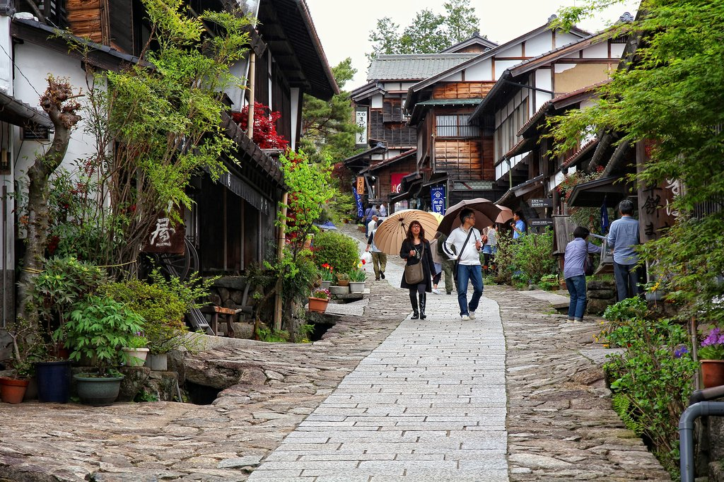 The Nakasendo Trail entering Magome.