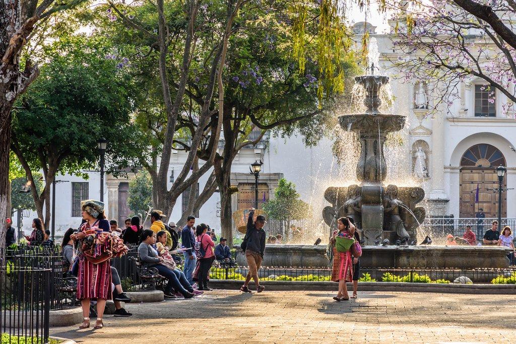 Central Plaza in Antigua