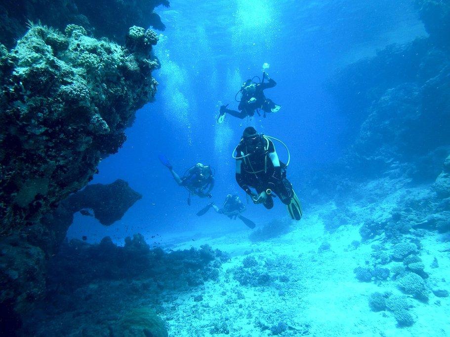 Explore underwater