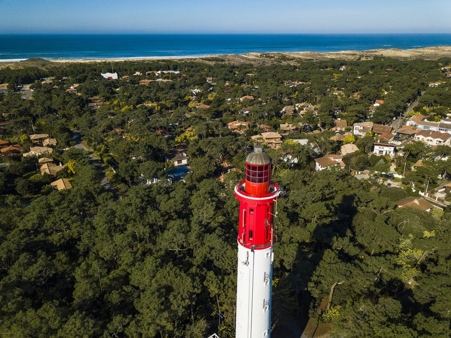 Cap Ferret lighthouse in Arcachon Bay