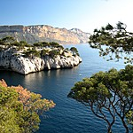 Hidden coves in Calanques National Park