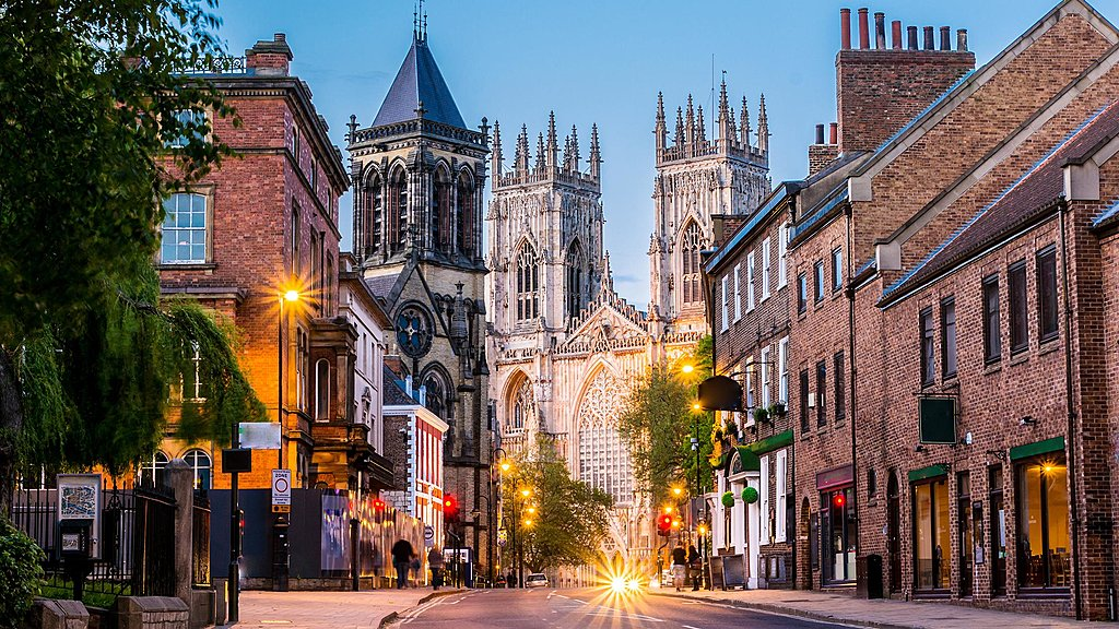 York Minster and shopping street