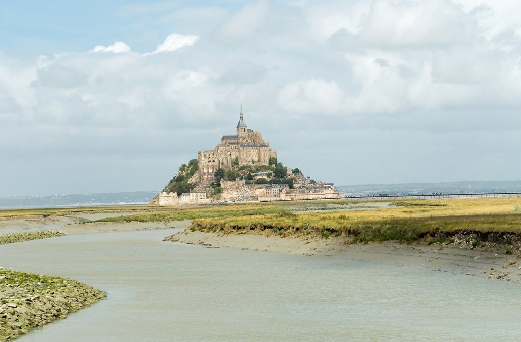 Mont-Saint-Michel on a cloudy day