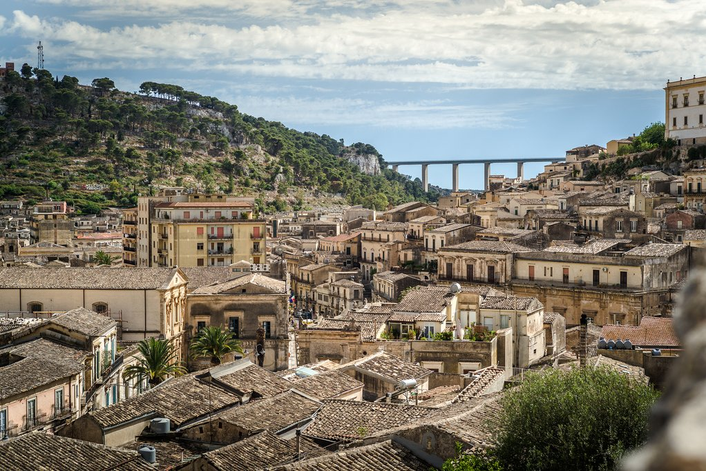The hilltop town of Modica