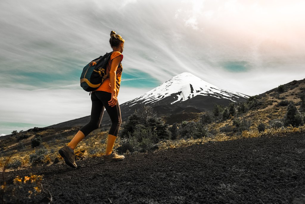 Hiking up to Osorno Volcano