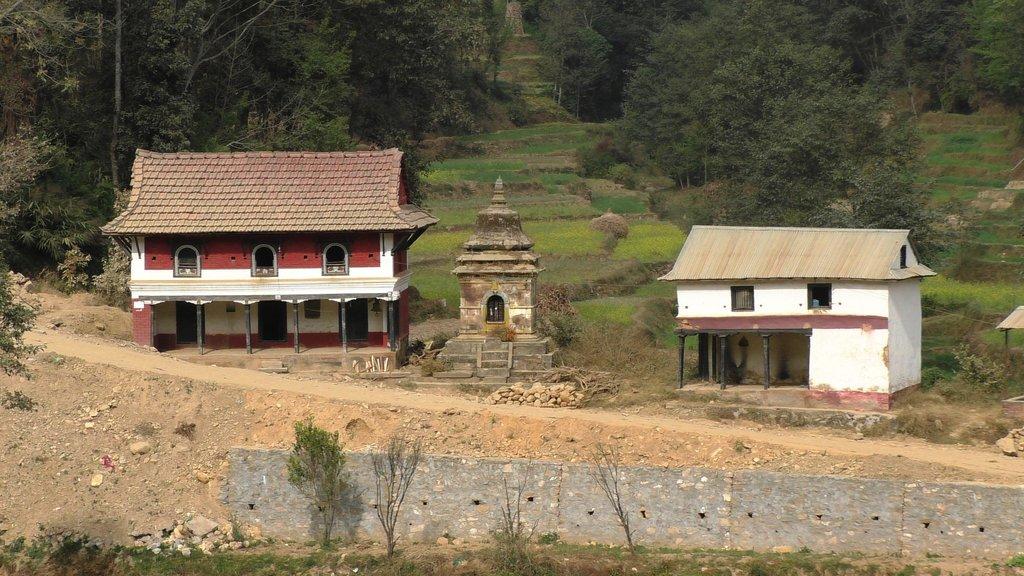 Typical Newari homes outside of Panauti