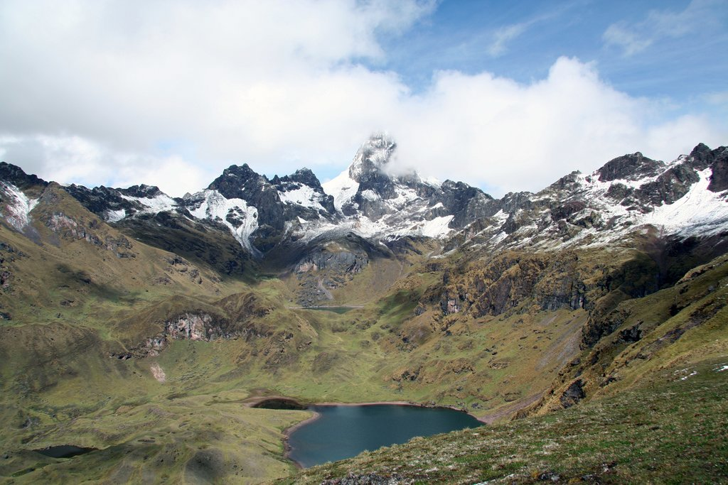 View of the Urubamba Mountain Range from the Lares Valley in Peru