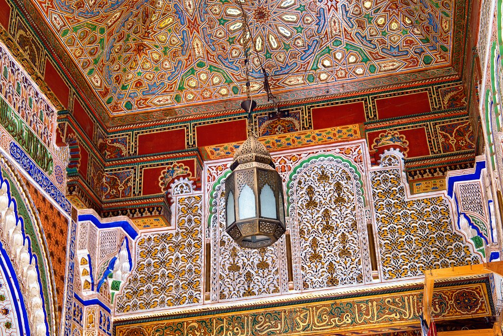Decorations of the Zawiya of Moulay Idris II in Fes