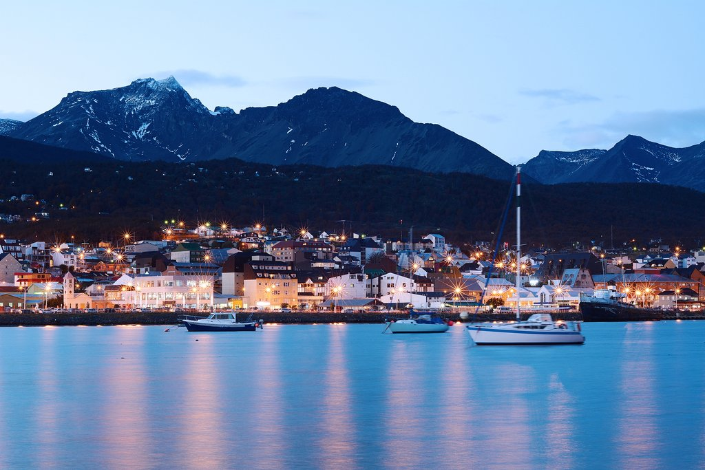 Board your cruise in Ushuaia in the early evening